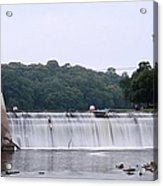 Mitchell Iowa Dam Acrylic Print