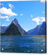 Mitre Peak In Milford Sound New Zealand Acrylic Print