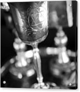Mitzvah Cup Black And White Acrylic Print