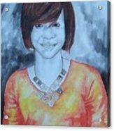 Mix Media Portrait Acrylic Print