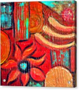 Mixed Media Abstract  Acrylic Print