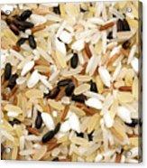 Mixed Rice Acrylic Print by Fabrizio Troiani
