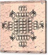 Mmonogram Stripes Lite Mauve Charcoal Acrylic Print
