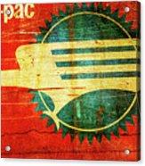 Mo-pac Caboose  Acrylic Print by Toni Hopper