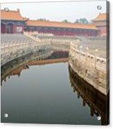 Moat Forbidden City Beijing Acrylic Print