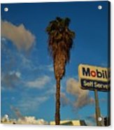 Mobil Self Serve Acrylic Print