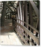 Mocha Colored Walking Bridge In American Fork Canyon Utah Acrylic Print
