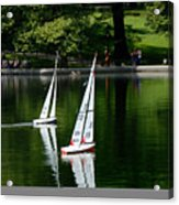 Model Boats Central Park New York Acrylic Print