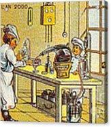 Model Kitchen, 1900s French Postcard Acrylic Print