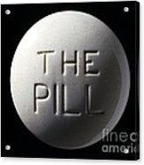 Model Of Contraceptive Pill, C.1970 Acrylic Print