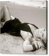 Model On Beach Acrylic Print