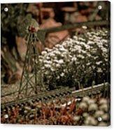 Model Railroad Windmill Acrylic Print