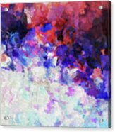 Modern Abstract Painting In Blue Acrylic Print