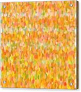 Modern Abstract Pointilist Color Combination 1 Acrylic Print