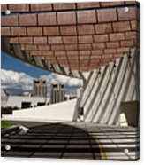 Modern Architecture Of Ismaili Centre Entrance With Aga Khan Mus Acrylic Print