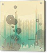 Modern City Abstract Acrylic Print