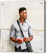 Modern College Student In New York Acrylic Print