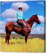 Modern Cowboy Acrylic Print