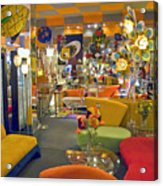 Modern Deco Furniture Store Interior Acrylic Print