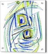 Modern Drawing Forty Acrylic Print