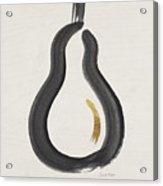Modern Pear- Art By Linda Woods Acrylic Print
