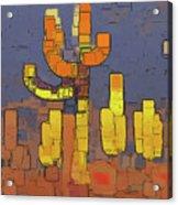 Modern Saguaro - Red Acrylic Print