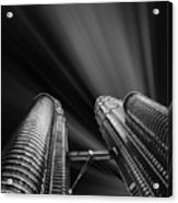 Modern Skyscraper Black And White Picture Acrylic Print