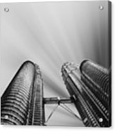 Modern Skyscraper Black And White  Acrylic Print by Stefano Senise