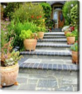 Modern Suburban House With Succulent Garden Hayward California 34 Acrylic Print