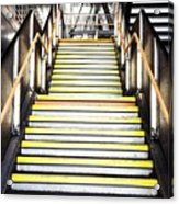 Modern Subway Steps In London Canary Wharf District Acrylic Print