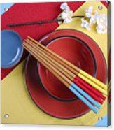 Modern Take On Traditional Japanese Oriental Place Setting Acrylic Print