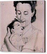 Modona And Baby Acrylic Print