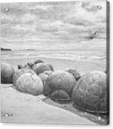 Moeraki Boulders Acrylic Print