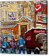 Moe's Corner Snack Bar And Diner Montreal Landmark  Restaurant Canadian Art Carole Spandau Acrylic Print