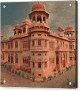 Mohatta Palace At Sunset Acrylic Print