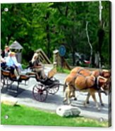 Mohonk Carriage Tour Acrylic Print