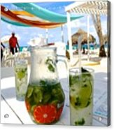 Mojitos On The Beach- Punta Cana Acrylic Print