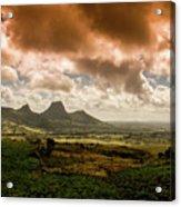 Moka Mountains Acrylic Print