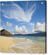 Mokulua Island Beach Acrylic Print