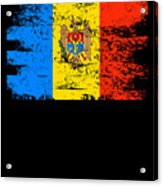 Moldova Gift Country Flag Patriotic Travel Shirt Europe Light Acrylic Print