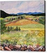 Mole Hill in Summer Acrylic Print