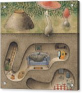 Mole Acrylic Print by Kestutis Kasparavicius