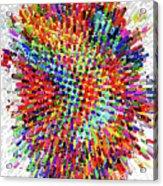 Molecular Floral Abstract Acrylic Print