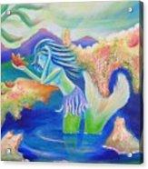 Molly Mermaid Acrylic Print