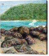 Moloa'a Rocks Acrylic Print