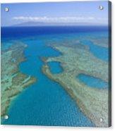 Molokai, Aerial Acrylic Print