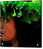 Molokai Wahine Dancer Acrylic Print