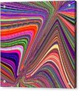 Molten Rainbow Acrylic Print