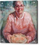Mom and Apple Pie Acrylic Print