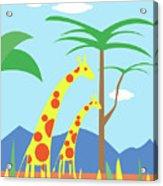 Mom And Me Giraffes Acrylic Print